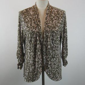 Easywear Chico's Open Front Cardigan Jacket 2 L